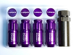 NRG - 700 Series Extended Lug Nut Locks - 12x1.5MM - Set of 4 - Purple